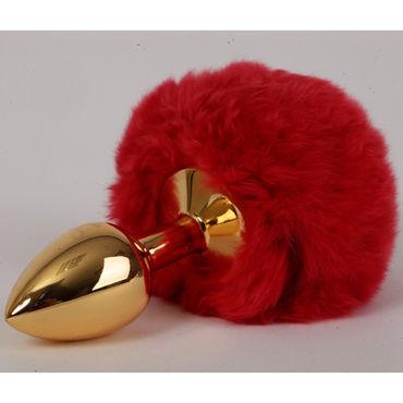 4sexdreaM Пробка металлическая, золотая С красным хвостиком 4sexdream пробка металлическая золотая с красным хвостиком