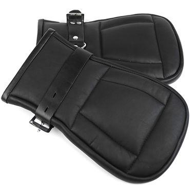 House of Steel Padded Leather Mitts, черные Перчатки для подвешивания л house of steel horse shoe ring with ball разноцветный