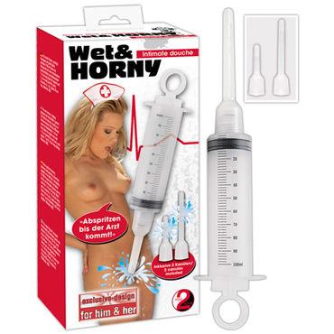 You2Toys Shower, прозрачный Шприц с двумя съемными насадками womanizer 2 go