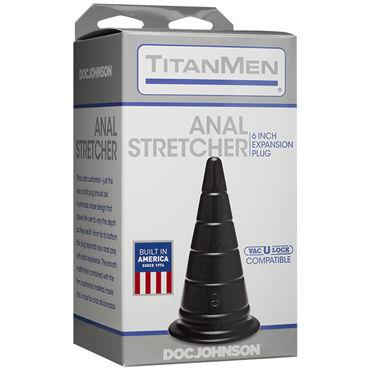 Doc Johnson TitanMen Anal Stretcher 15см, черная Анальная пробка в форме пирамиды doc johnson titanmen open up анальная пробка