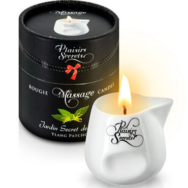 Plaisirs Secrets Massage Candle Des Ylang Patchouli, 80мл Свеча массажная Иланг-Иланг и Пачули х пульсаторы bailey