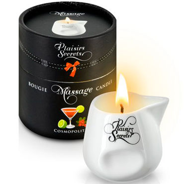 Plaisirs Secrets Massage Candle Cosmopolitan, 80мл Свеча массажная коктейль Cosmopolitan baile power head g spot pleaser насадка для точки g