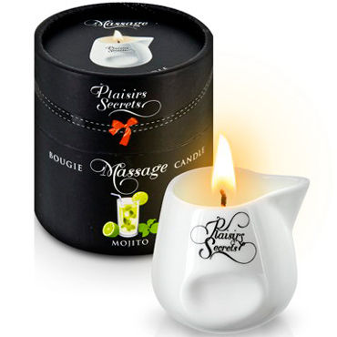 Plaisirs Secrets Massage Candle Mojito, 80мл Свеча массажная Мохито свеча candle cucumber water