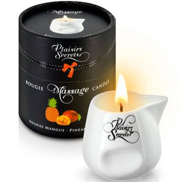 Plaisirs Secrets Massage Candle Pineapple Mango, 80мл Свеча массажная Манго и Ананас plaisirs secrets massage candle vanilla 80мл свеча массажная ваниль