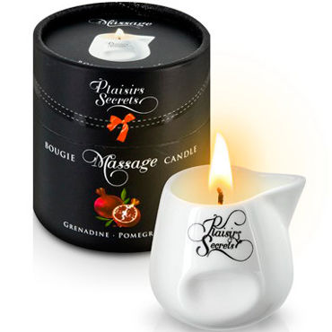 Plaisirs Secrets Massage Candle Pomegranate, 80мл Свеча массажная Спелый гранат ж ду frivole платье с вырезами