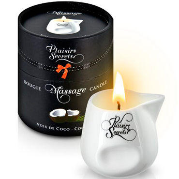 Plaisirs Secrets Massage Candle Coconut, 80мл Свеча массажная Кокос ж ду frivole платье с вырезами