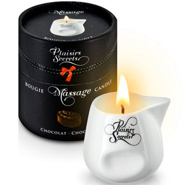 Plaisirs Secrets Massage Candle Chocolate, 80мл Свеча массажная Шоколад anais caprice комбинация и стринги