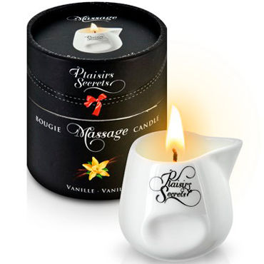 Plaisirs Secrets Massage Candle Vanilla, 80мл Свеча массажная Ваниль свеча candle cucumber water