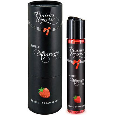 Plaisirs Secrets Massage Oil Strawberry, 59мл Массажное масло Клубника plaisirs secrets massage oil caramel 59мл массажное масло карамель