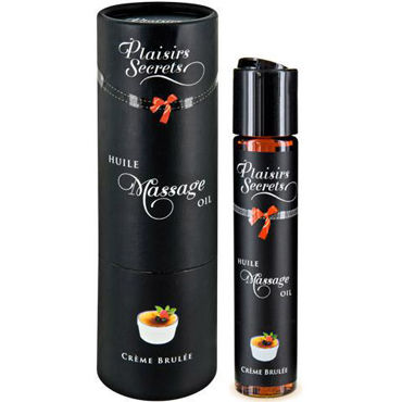 Plaisirs Secrets Massage Oil Creme Brulee, 59мл Массажное масло Крем Брюле smile butterfly