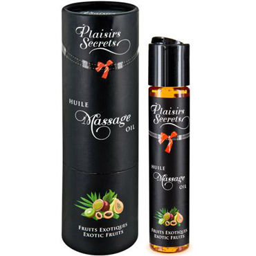 Plaisirs Secrets Massage Oil Exotic Fruits, 59мл Массажное масло Экзотические фрукты массажное масло massage hot oil active warming 100 мл