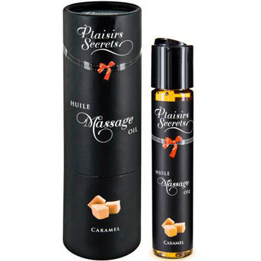 Plaisirs Secrets Massage Oil Caramel, 59мл Массажное масло Карамель plaisirs secrets massage oil chocolate 59мл массажное масло шоколад