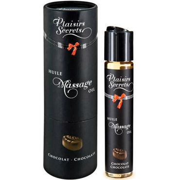 Plaisirs Secrets Massage Oil Chocolate, 59мл Массажное масло Шоколад ошейник speak no evil choker picobong