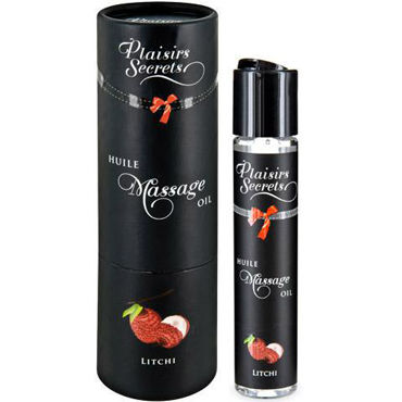 Plaisirs Secrets Massage Oil Litchi, 59мл Массажное масло Личи масло kativa morocco argan oil nuspa масло