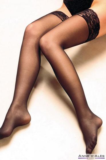 Anne d'Ales Alexia Stockings, черные Чулки на силиконовой резинке в hjnbxtcrbt аксессуары детали успеха anne d ales