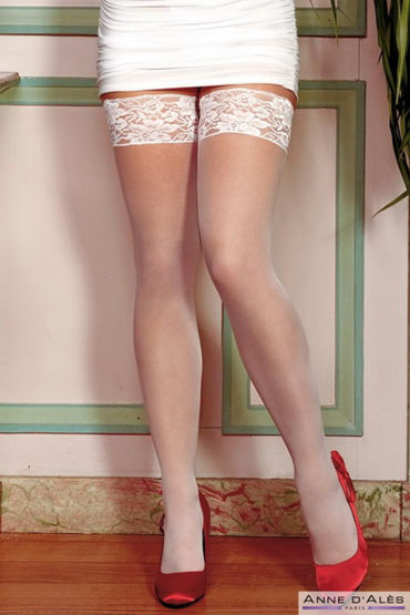 Anne d'Ales Alexia Stockings, белые Чулки на силиконовой резинке в hjnbxtcrbt аксессуары детали успеха anne d ales