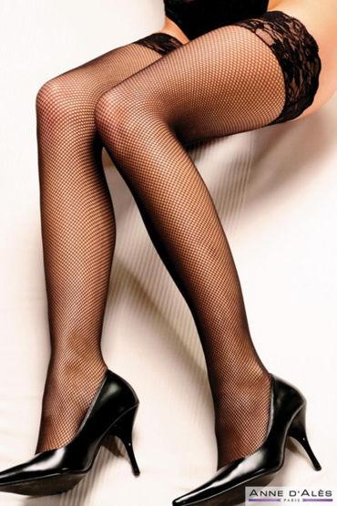 Anne d'Ales Camilla Stockings, черные Чулки в мелкую сеточку в hjnbxtcrbt аксессуары детали успеха anne d ales