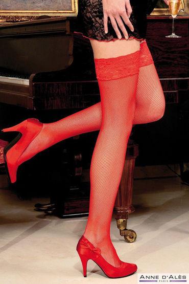 Anne d'Ales Camilla Stockings, красные Чулки в мелкую сеточку в hjnbxtcrbt аксессуары детали успеха anne d ales