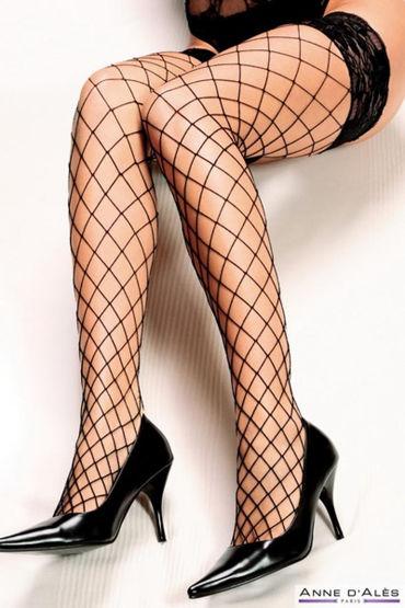 Anne d'Ales Erica Stockings, черные Чулки в крупную сетку anne d ales bruna stockings красные чулки на широкой резинке