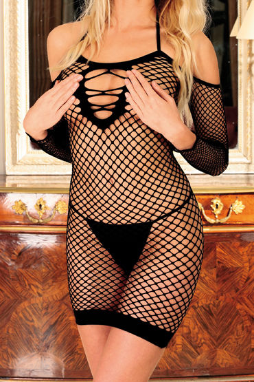 Anne d'Ales Diable Innocent, черное Откровенное мини-платье anne d ales robe marise черное мини платье в сетку