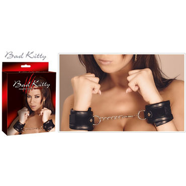 Bad Kitty Handcuffs, черные Мягкие наручники bad kitty handcuffs with decorative studs черные