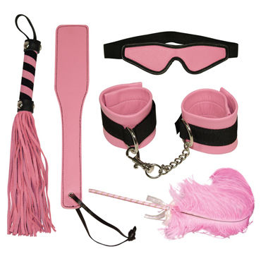 Bad Kitty Bondage Set, розовый Набор из пяти предметов вибратор moonar multi yp0108 60 0108yp c7