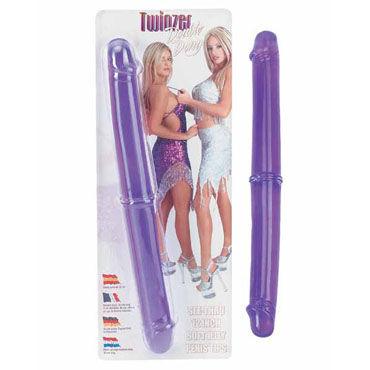 Gopaldas Twinzer фиолетовый Двусторонний фаллоимитатор pipedream vibrating king cock with balls 18 см телесный реалистичный вибратор на присоске