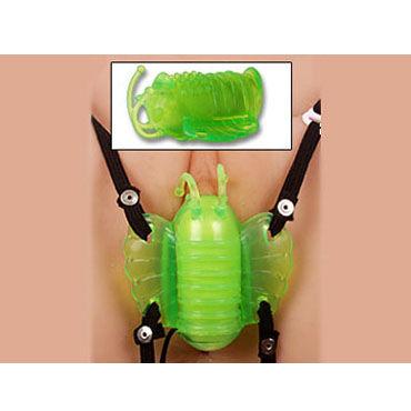 Gopaldas Butterfly Massager зеленый Клиторальный стимулятор с вибрацией си ли человек сексуального женского белья равномерного искушение сексуальных сиамский сан см леопард шифон ночной рубашка