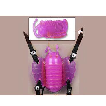 Gopaldas Butterfly Massager розовый Клиторальный стимулятор с вибрацией стимулятор клитора с помпой butterfly clitoral pump с вибрацией розовый