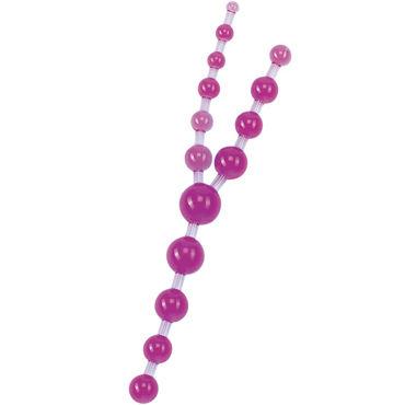 Gopaldas Triple Anal Pleasures фиолетовый Анальные шарики эрекционное кольцо vibrating ring со стимулятором клитора с вибрацией черное
