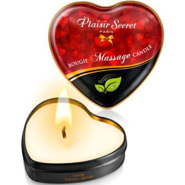 Plaisirs Secrets Massage Candle Heart Nature, 35мл Свеча массажная натуральная nature skin labs elements