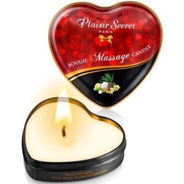 Plaisirs Secrets Massage Candle Heart Exotic Fruits, 35мл Свеча массажная с ароматом Экзотические фрукты кольцо для пениса oem rc012