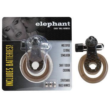 Gopaldas Elephant Cock Ring черный Эрекционное кольцо с вибрацией mister b gun oil masturbation 29 cream 100 мл крем для мастурбации