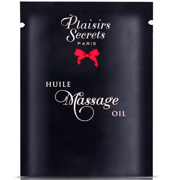 Plaisirs Secrets Massage Oil Creme Brulee, 3мл Массажное масло Крем Брюле gopaldas mini silicone classic телесный вибромассажер с щеточкой у основания