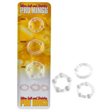 Gopaldas Stretchy Pro Rings Набор из трех эрекционных колец fifty shades of grey pleasure and pain nipple rings на