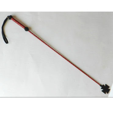 Podium стек, красно-черный С наконечником-крестом, длинный