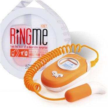 Ideal Ring Me оранжевый Вибратор, работающий от телефона 8 ctrc игрушки tickler