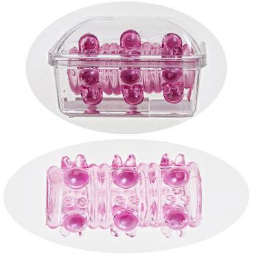 Sextoy Насадка розовый Насадка на пенис с текстурной поверхностью erokay extra pleasure tongue style ring vibe прозрачная насадка на пенис в форме языка
