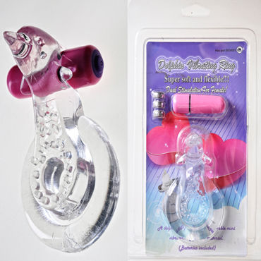 Sextoy Кольцо Эрекционное кольцо с вибрацией baile pretty love eden розовое виброяйцо с пультом вибратором