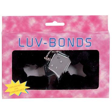 Gopaldas Luv Bonds черный Наручники с искусственным мехом sitabella наручники серебристо голубой с подкладкой из искусственного меха