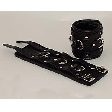 Beastly наручники, черные С тремя паяными кольцами podium наручники широкие с одной пряжкой
