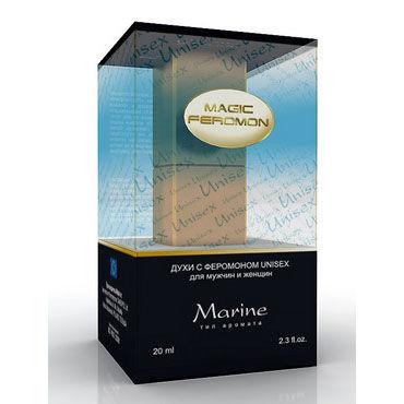 Magic Feromon Marine Unisex, 20 мл Духи с феромонами унисекс, морской аромат joydivision joyballs anal wave 30 см фиолетовый анальный стимулятор