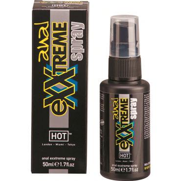 Тестер HOT Exxtreme Glide Anal Spray Силиконовый спрей для анального секса hot super glide raspberry 75 vk w