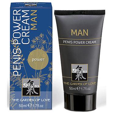 Shiatsu Man Penis Power Cream, 50 мл Крем для мужчин, увеличивающий эрекцию bdsm арсенал поводок с кожаной петлей 90 см с карабином