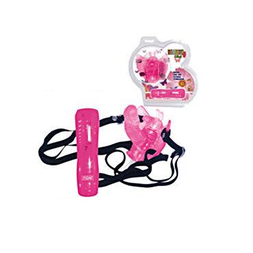 Baile Batterfly розовый На ремне, 7 скоростей вибрации, стимулятор точки G вибраторые реалистики на присоске toy joy