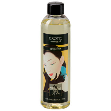 Shiatsu Oil Erotic Grapefrut, 250 мл Массажное масло грейпфрут shiatsu luxury body oil strawberry 100 vk а