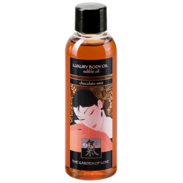 Shiatsu Luxury Body Oil Chocolate-mint, 100 мл Съедобное масло с шоколадно-мятным ароматом shiatsu luxury body oil strawberry 100 мл съедобное масло с ароматом клубники