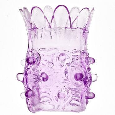 Sextoy Насадка на фаллос фиолетовый С шипами в виде ананаса набор анальных втулок anal training set