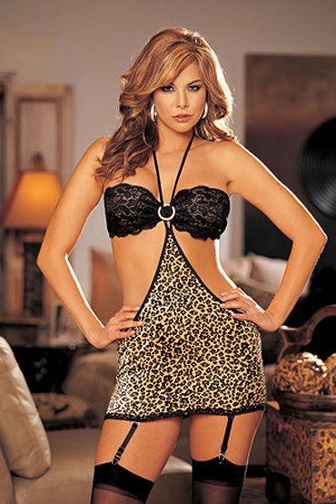 Shirley комбинация, леопардовая С подтяжками для чулочков к shirley комплектации