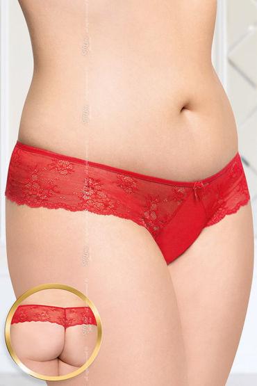 Soft Line стринги, красные С цветочным кружевом